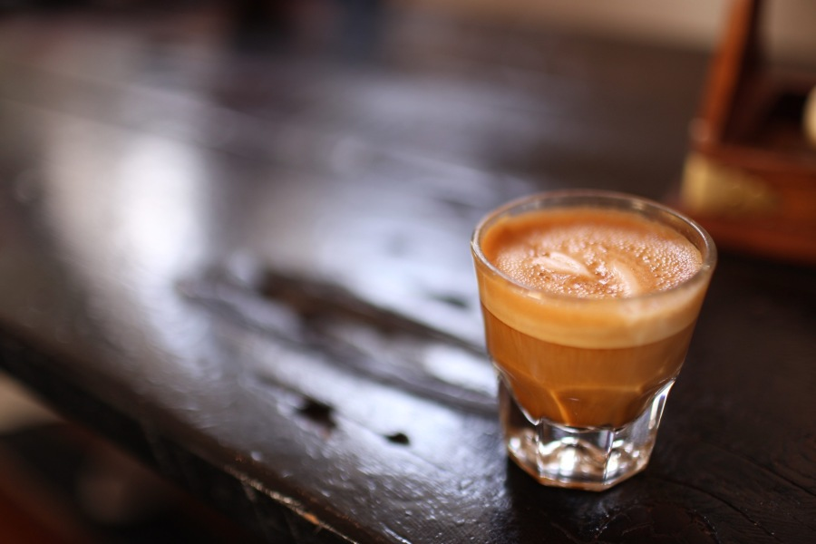 Pull Pulled Cortado cafe espresso drink coffee coffee shop